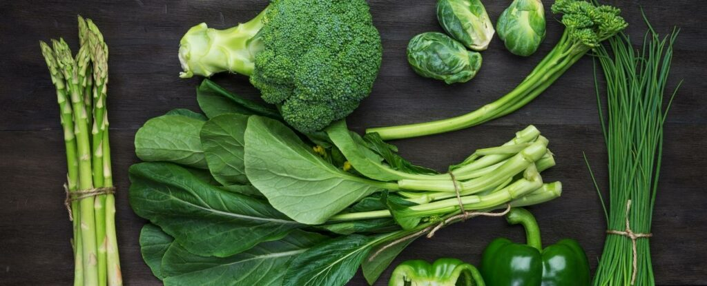 green vegetables are good to keep your mind healthy