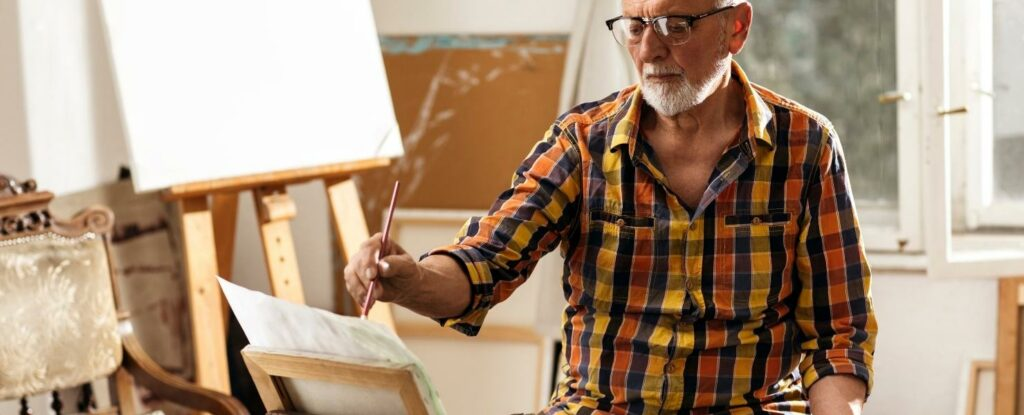 painting is a peaceful craft perfect for older adults